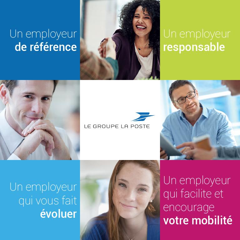 infographie illustrant les 4 bonnes raisons de nous rejoindre détaillées dans l'article : Un employeur de référence, un employeur responsable, un employeur qui vous fait évoluer, un employeur qui facilite et encourage votre mobilité