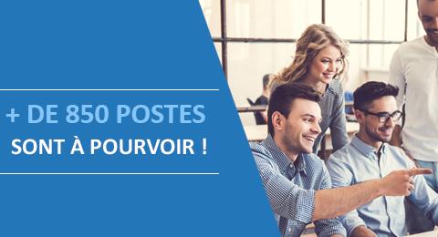 Le Groupe La Poste propose plus de 850 postes en ce moment !